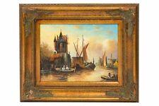 Original Ölgemälde Windmühle Holland Antik-Stil Gemälde 60cm