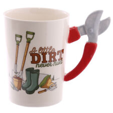 Gardener China Mug Secateur Handle Coffee Tea Beverage Cup Gardener Mug Gift