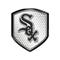 MLB Chicago White Sox Reflector 3D Sticker Decal Emblem Car Truck Made in USA