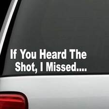 Gun Sights Funny Sniper Deer Turkey Hunting Decal Sticker Car Truck Suv Laptop