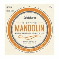 D'Addario EJ74 Mandolin Strings, Phosphor Bronze, Medium, 11-40