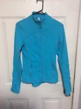 Women's Lululemon Define Forme II Yoga Jacket Size 4 Turquoise EUC