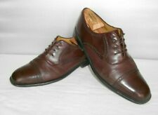 Men's Mezlan Nicola Burgundy Leather Dress Cap Toe Oxfords Size 8.5 D