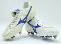 Mizuno objectivo SI Studded Football Boots Pearl / Gold / Blue New Size 7's & 8