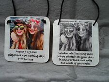 Personalised Photo Plaque Friendship Best Friend Quote Sister Bridesmaid Dad