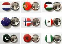National Country Flag lapel pin Button Badge Fashion Tin Plate Badge Emblem