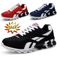 Mens Athletic Walking Running Trainers Lace Up Mesh Casual Sports Shoes Sneakers