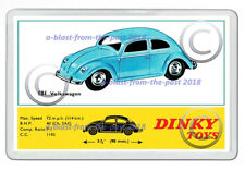 DINKY 181 VOLKSWAGEN BEETLE  ARTWORK NEW JUMBO FRIDGE LOCKER MAGNET