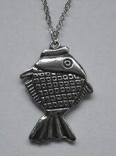 Fish (26mm x 18mm) Chain Necklace #1124 Pewter