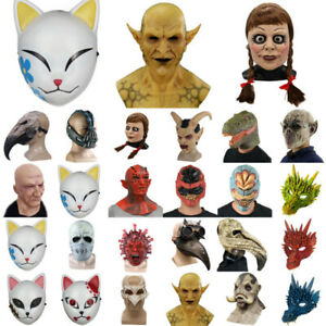 Unisex Adults Horror Full Head Face Mask Scary Fancy Dress Cosplay Party Props