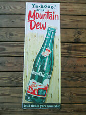 """Mountain Dew Vertical Sign Yahoo for Mountain Dew 42"""" Retro"""