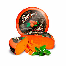 BASIRON PESTO GOUDA ROSSO CHEESE  full of red tomatoes and fresh Italian herbs