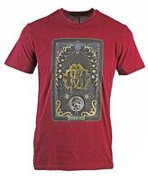 Roberto Cavalli Card Logo Burgundy T-Shirt