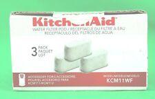 KitchenAid KCM11WF Water Filter Pod - 3 Pack *New/Sealed*
