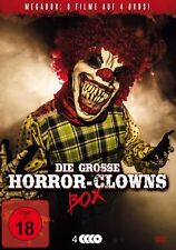 8 HORREUR CLOWNs Collection FREAKSHOW Hotel Death CIRCUS CLOWN DE FEAR Boîte DVD