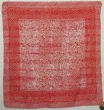 """TERRIART Red, White Graphic Box Stripes 29"""" Square Scarf-Vintage"""