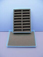 N Gauge  Plastic Storage Box & Foam Tray - BLUE # 112