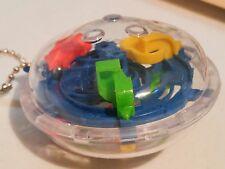 Blue Mini 3D Perplexus type Maze Ball Puzzle Keychain Toy USA Seller Fast Ship