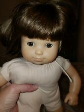 "American Girl Ag 2012 Naked 15"" Long Doll Brown Short Hair Eyes Bitty Baby Twin"