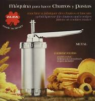 Ilsa Metal Churrera, Stainless Steel, Silver, Centimeters churros making machine