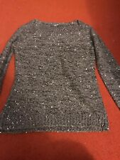 South Grey Sequin Jumper Size 8