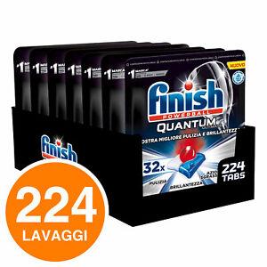 224 Pastiglie Finish Powerball Quantum Ultimate Detersivo Lavastoviglie
