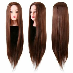 "30% Real Human Hair Salon 24"" Head Mannequin Hairdressing Training Doll & Clamp"