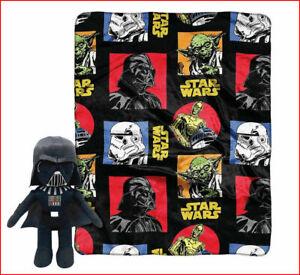 2 pcs - STAR WARS Classic THROW 40 x 50 + DARTH VADER Pillow Buddy  🌟New🌟