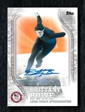 2018 Topps US Winter Olympic Autograph US-37 Brittany Bowe Speed Skating #27/50