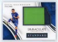 2017 GYLFI SIGURDSSON 16/49 JERSEY PATCH PANINI IMMACULATE COLLECTION STANDARD