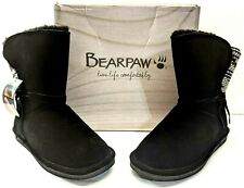 NEW Bearpaw Maggie NEVERWET Warm Winter Suede & Knit Boots   BLACK size 10M