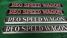 REO Speed Wagon Truck Hood Emblem Set of Two - 1932 - 1936