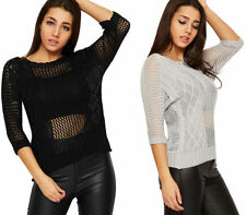 Acrylic Short Sleeve Knit Tops for Women