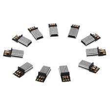 10 pz Mini USB 5 pin maschio spina DIY SMT connettore argento tono grigio s M1N0