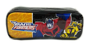 Animated Transformers Bumble Bee & Optimus Prime Pencil Case Pencil Pouch Black