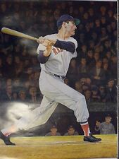 TED WILLIAMS AUTOGRAPHED POSTER WITH COA