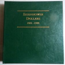 EISENHOWER DOLLARS 1971-78, 3-Page ALBUM w/ PROOFS from LITTLETON, NO COINS #C