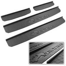 4 Door Sill Guards Plate Cover Fits for 2018 2019 Jeep Wrangler JL Accessories