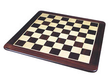 """Rounded Edges Flat Wooden Chess Board 20"""" Inlaid Rosewood/Maple. Sq. Size 2"""""""