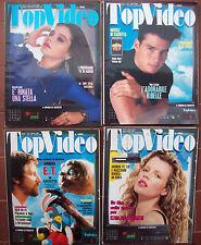 1988 LOTTO DI TRE RIVISTE SUL CINEMA E VIDEOCASSETTE 'TOP VIDEO'