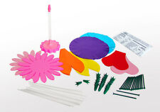 Deluxe Flower Making Kit Paper Plastic Bouquet Basket Vase Decoration Kids Fun