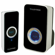 100m Range Lloytron Wireless Cordless Door Bell Plug In Chime WITH 32 MELODIES