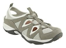 Easy Spirit Earthen athletic walking shoe suede leather stretch taupe 5 Med NEW