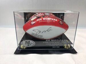 Joe Montana San Fransisco Signed Printed Football With Case