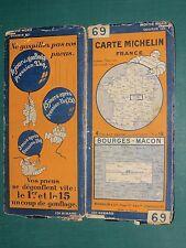Carte MICHELIN n° 69 Bourges Mâcon 1928