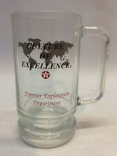 Vintage Texaco Culture of Excellence Frontier Exploration Dept Glass Beer Mug