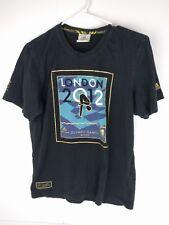Adidas London 2012 Olympics Diving Womens Size S T Shirt BLACK Blue Gold
