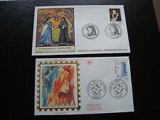 FRANCE - 2 enveloppes 1er jour 1992 (marguerite d angouleme/marcel paul) (cy50)