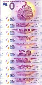 ALLEMAGNE 100 BILLETS DIFFERENTS 2018, Billet Euro Souvenir