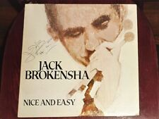 """SIGNED"" VINYL LP by THE JACK BROKENSHA QUARTET ""NICE AND EASY"" / 1002"